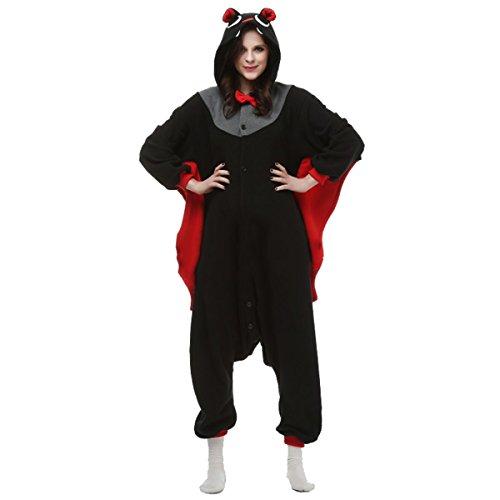 Casa - Adulto Cosplay Unicorn Pigiama Animali Onesie Unisex Pigiama Party Halloween Sleepwear Costume Cosplay Kigurumi Flanella Tuta Per Adulti Pipistrello
