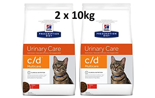Hill's Prescription Diet Feline c/d Multicare Chicken: 2 x 10kg Katzenfutter Veterinary Diets