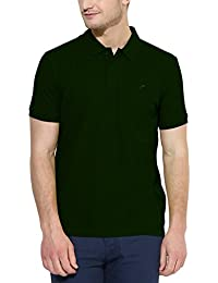 Polo Nation Men's Cotton Polo T-shirt (Bottle Green)