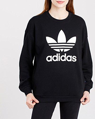Adidas Trefoil Sweat felpa, donna, Donna, Trefoil Sweat, nero, 38