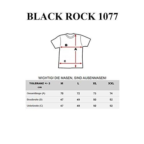 BOLF Herren T-Shirt Kurzarm Slim Fit Tee Classic Rundhals Aufdruck 3C3 Motiv Dunkelblau