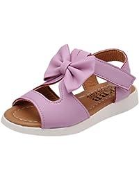 Zapatos Niña,Sandalias de verano para niños Zapatillas princesas de niña de moda Bowknot LMMVP
