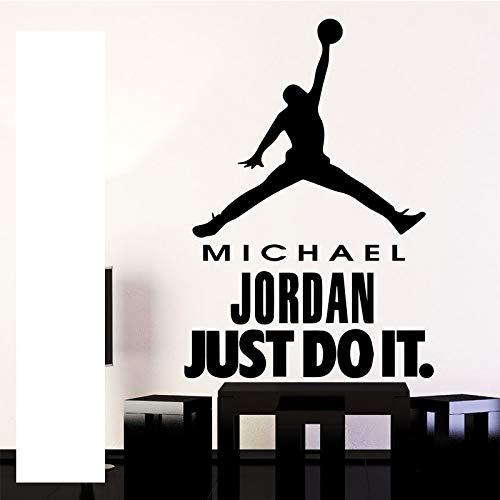 Basketballstar Michael Jordan Just Do It Design Wandaufkleber für Turnhalle Dekoration Basketball selbst wasserdicht Vinyl Kunst Dekoration Mura 58 * 77CM