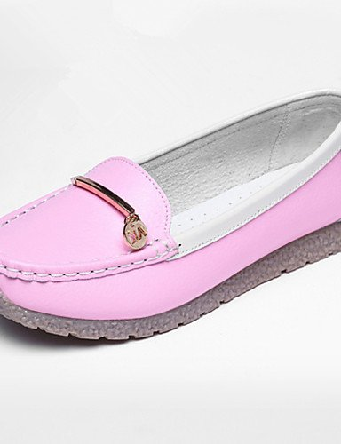 ZQ gyht Scarpe Donna-Mocassini-Tempo libero / Casual-Punta arrotondata-Piatto-Di pelle-Blu / Giallo / Rosa / Rosso , pink-us8.5 / eu39 / uk6.5 / cn40 , pink-us8.5 / eu39 / uk6.5 / cn40 yellow-us6 / eu36 / uk4 / cn36