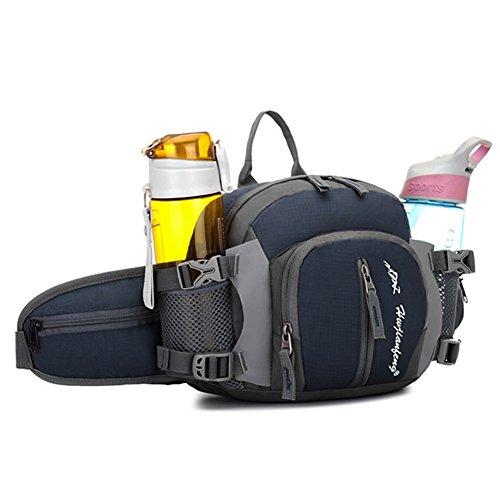 Travel Waist Rucksäcke, ZOQI 20L Herren Womens Wasserdicht Anti- Scratch Multifunktions 4-in-1 Outdoor / Runing / Bergsteigen / Reisen / Radfahren Trinkflaschen Taschen Grau