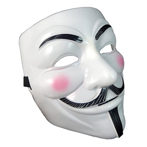 OnceAll V for Vendetta Guy Fawkes Face Mask Fancy Halloween ()