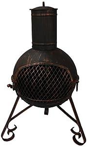 El Fuego 70cm Lexie Steel Chimenea - Black