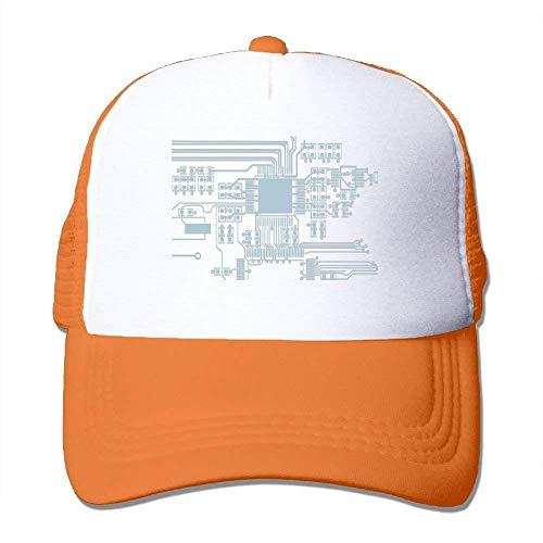 deyhfef Computer Chip CPU Core Heart Adjustable Sports Mesh Baseball Trucker Kappen Hüte Multicolor38 -