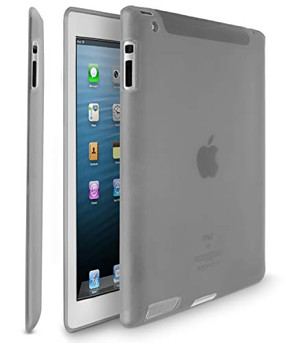 TPU Case for iPad 2 / iPad 3 (3rd Generation) / iPad with Retina Display (iPad 4, 4th Generation) - Smoke - Fosmon Crystal