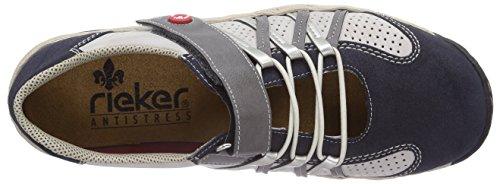 Rieker - L0554, Scarpe da ginnastica Donna Blu (Lake/ice/shark/silver / 15)