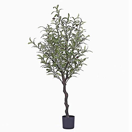 GCJ.W Lush Künstliche Bäume Gefälschte Baum Olivenbaum Simulation Topfpflanzen, Mit Realem Hölzernem Trunk - for Privatanwender Wohnzimmer Innen (Color : 1.2ma)