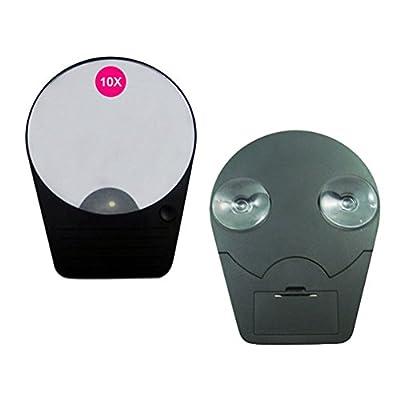 Wawoo® Make-up-Spiegel mit LED 10-facher Vergrößerung Ultra-High Definition Faltbar Tragebare Kosmetikspiegel Wandspiegel Schminkspiegel Standspiegel Batterienbetrieben