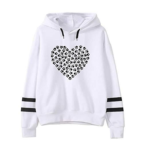 Pullovershirt Gestreifte Kapuzenjacke Planet Drucken Sport Pullover Outwear mit Kapuze Sweatshirt Kapuzenpullover Bluse Lange Pulli Oberteile ()
