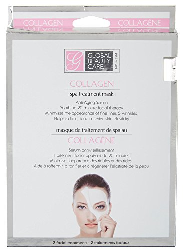 ORIGINAL Global Beauty Care Premium Collagen Spa Treatment Mask for All Skin Types - 2 masks PACK