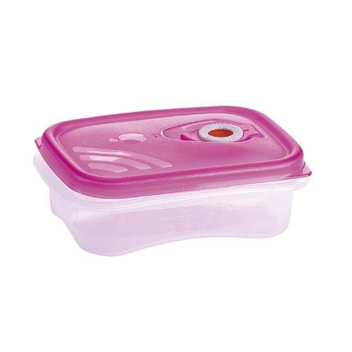 Frischhaltebox (PINK) 0,5 Liter mikrowellengeeignet mit Frigo-Test Vakuumventil