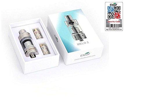 Preisvergleich Produktbild 100% ORIGINAL - Eleaf Melo 2 Clearomizer tank atomizer 4.5 ml SILBER - Sicherheitscode nachprüfbar auf der Website ELEAF