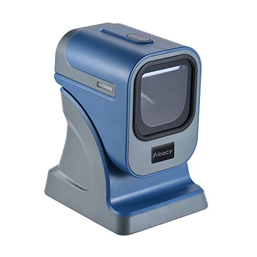 Blusea High Speed Omnidirectional 1D/2D Presentaion Barcode Scanner Reader Platform High Speed with USB Cable for Stores Supermarkets Express