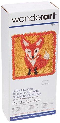 Spinrite Acryl-Mischgewebe Wonderart Haken Kit 12Zoll x 12Zoll, Little Fox