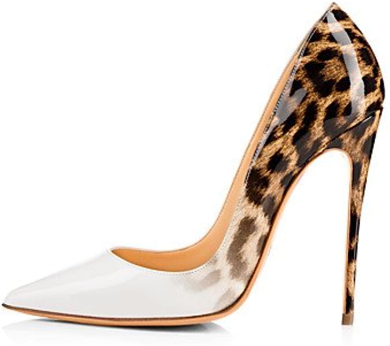 Zormey Las Bombas De La Mujer Primavera 2017 Zapatos Leopardo Blanco Extremadamente Altos Tacones Señoras Stilettos...