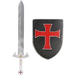 Kit escudo y espada caballero cruzado niño - Única
