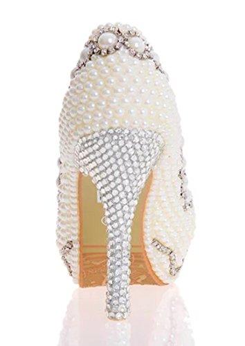 TDA , Semelle compensée femme 12cm Heel Ivory