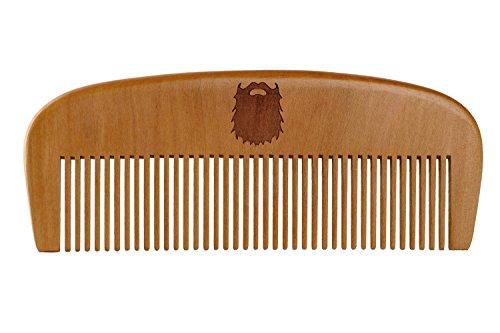 Bartkamm aus Birnbaumholz von Beard Folk Beard Comb