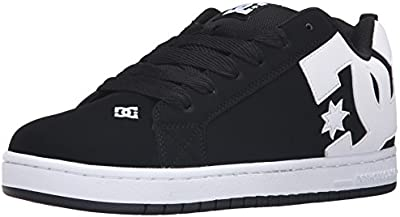 DC Shoes COURT GRAFFIK SHOE D0300529 - Zapatillas de cuero nobuck para hombre, Black, 45 EU