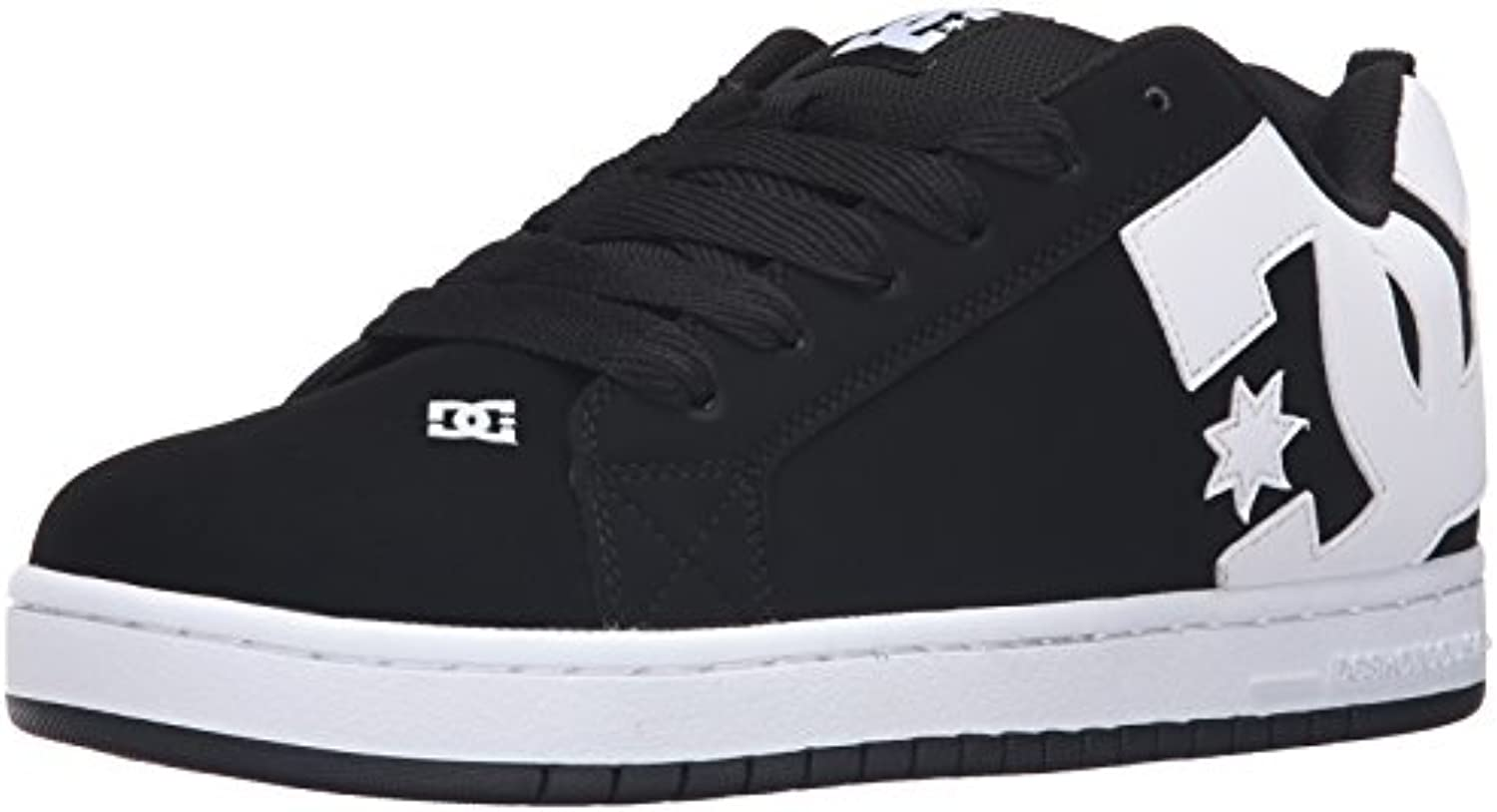 DC Shoes Men's Court Graffik Low Top Shoes Black S17