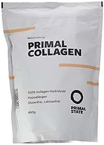 Kollagen Hydrolysat Peptide   Premium Proteinpulver PRIMAL COLLAGEN Protein   Pulver aus Weidehaltung   Typ I und Typ II   Lift Drink und Laborgeprüft   460g