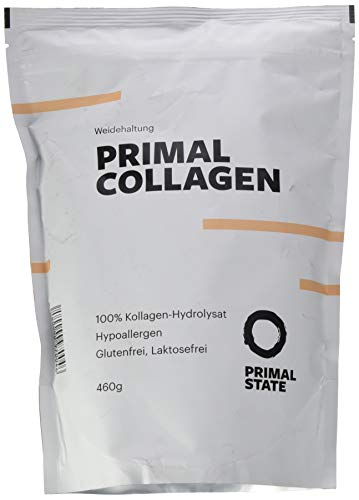 Kollagen Hydrolysat Peptide | Premium Proteinpulver PRIMAL COLLAGEN Protein | Pulver aus Weidehaltung | Typ I und Typ II | Lift Drink und Laborgeprüft | 460g
