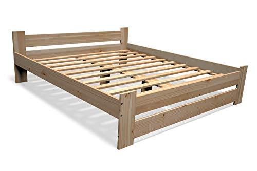 Best For You Massivholzbett Doppelbett Futonbett Massivholz Natur Seniorenbett erhöhtes Bett aus 100{954eedf2a2c4487b2282ff0370d01b553da785e0ec8ca707c4caf4ecbdaea551} Naturholz mit Kopfteil und Lattenrost viele Größen (160x200 cm)