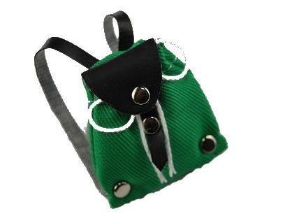 Rucksack Tasche - grün - Miniatur / für Puppenstube Puppenhaus - Maßstab 1:12 - Wanderrucksack / Wandern - Wanderurlaub Deko - Diorama
