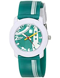 Zoop Analogue Green Unisex Watch -NLC3025PP30