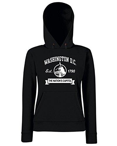 T-Shirtshock - Sweats a capuche Femme TSTEM0219 washington dc 1 Noir