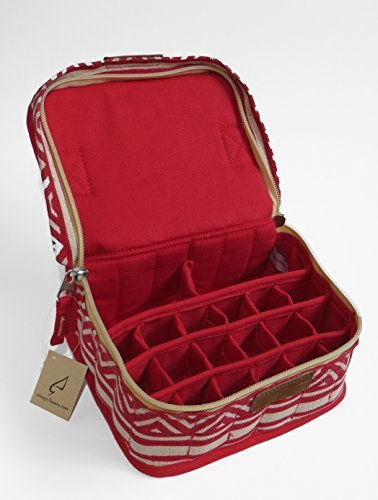 Newest Essential Oil Carrying Case/bag (Red Beauty M) by AlwaysNature