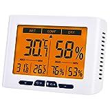 Diyife Hygromètre Thermomètre, Intérieur Température et D'humidité Indicateur avec LCD Écran Rétroéclairage, Moniteur D'humidité et de Température pour L'air Ambiant