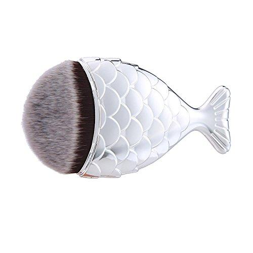 niceEshop(TM) Pinceau de Maquillage avec Style de Sirène, Brosse Cosmétique (Argent)