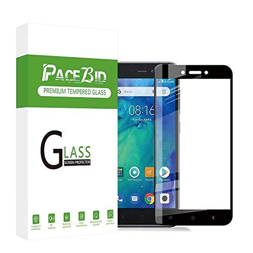 Xiaomi Redmi Go के लिए PaceBid टेम्पर्ड ग्लास, [9H कठोरता] [3D कर्व] [पूर्ण कवरेज] [स्थापना किट], Xiaomi Redmi Go Protective Film