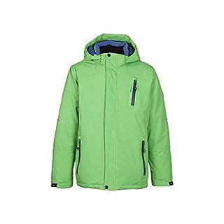 Killtec Children's Functional Jacket with Zip-Off Hood Arendo, Children's, Funktionsjacke mit Abzipbarer Kapuze Arendo, neon-Green melange (black), 17 years