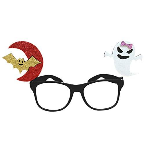 Baoyl Halloween-Brille Kürbisschläger Geister Tricky Eyewear Party Kostüm Streiche Requisiten lustiges Geschenk für Kinder, PVC, I, - Geist Kostüm Streich