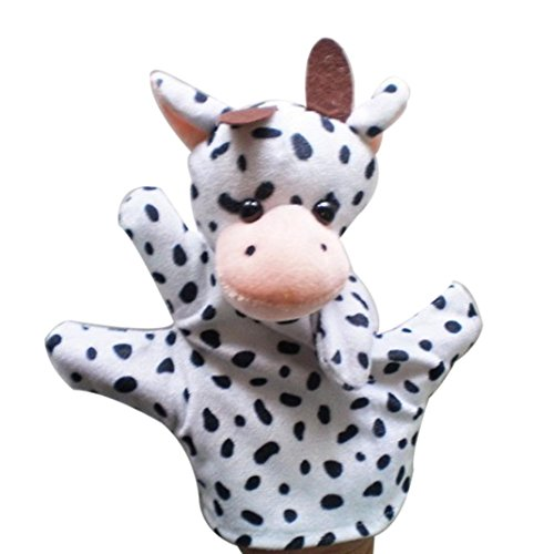 gotd Finger Puppets Baby Kind Zoo Farm Animal Hand Puppet Finger Sack Plüsch Spielzeug kuh (Farm Animal Finger Puppets)