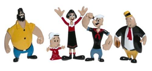 Popeye der Seemann biegbar und bewegliche Charakter Collectible Figuren 5-teiliges Set