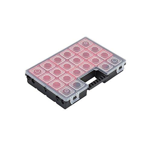 8 Boxen Sortimentskasten Sortierbox Tandem C Box Kleinteilebox Organizer 270x180x45 mm Deckel herausnehmabar