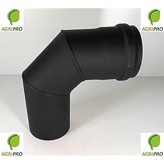 CURVA 90° tubo scarico fumi Diametro 80 per stufa a pellet canna fumaria