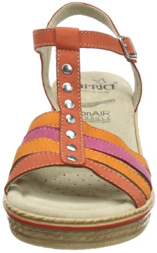 Caprice Tracy-1 9-9-28755-22 008 Damen Sandalen Rot (CORAL CO.NUBUC 652)