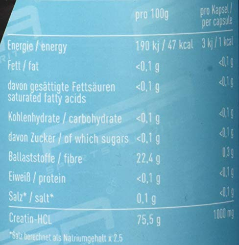 Creatin HCL 150 Kapseln, 1000 mg pro Kapsel, Kreatin Hydrochlorid, Vegan - Made in Germany - FSA Nutrition