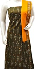 epuri handloom Unstitched Ikat Multi Colour Womens Cotton Kurta Dress Material