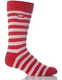 Mens 1 paire Pour les fans de football Chaussettes en rouge et blanc à rayures
