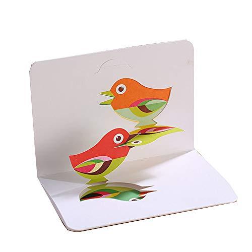 Kreatives Papier Carving Stereo Grußkarte 3D Pop Up Kinder Geburtstagsgeschenk Danke Karte Meteor Wunsch Segen Karte 3