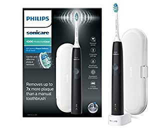 Philips Sonicare ProtectiveClean 4300 Electric Toothbrush with Travel Case - Black (UK 2-pin Bathroom Plug) - HX6800/03 (B07B18JQRZ) | Amazon price tracker / tracking, Amazon price history charts, Amazon price watches, Amazon price drop alerts